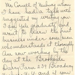 Letter from H. A. Becker to W. S. Teator Page 1