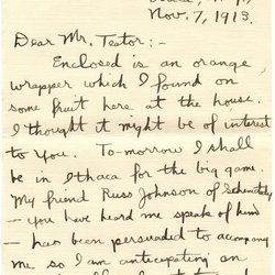 Letter from Paul L. Maher to W. S. Teator Page 1