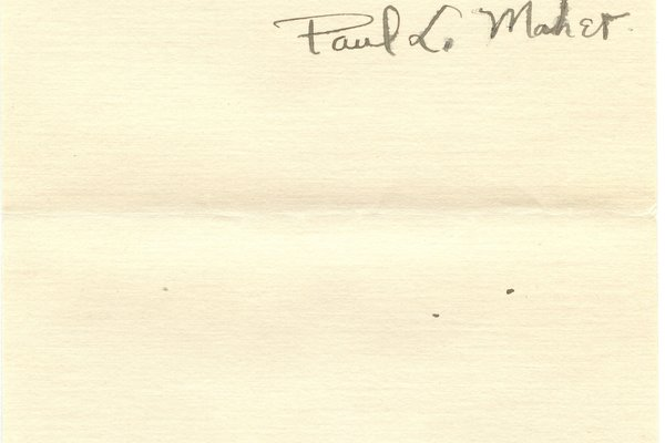 Letter from Paul L. Maher to W. S. Teator Page 4