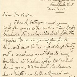 Letter from Margot S. Macaulay to W. S. Teator Page 1