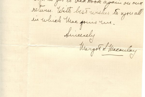 Letter from Margot S. Macaulay to W. S. Teator Page 2