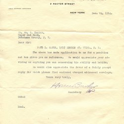 Letter from Horace Bowker to W. S. Teator