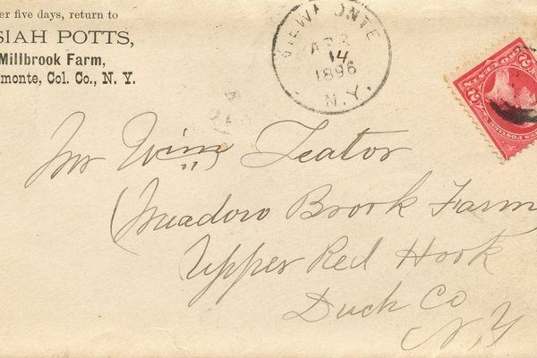 Letter from Josiah Potts to W. S. Teator Envelope
