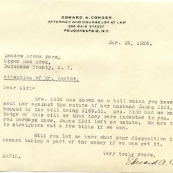 Letter from Edward A. Conger to W. S. Teator