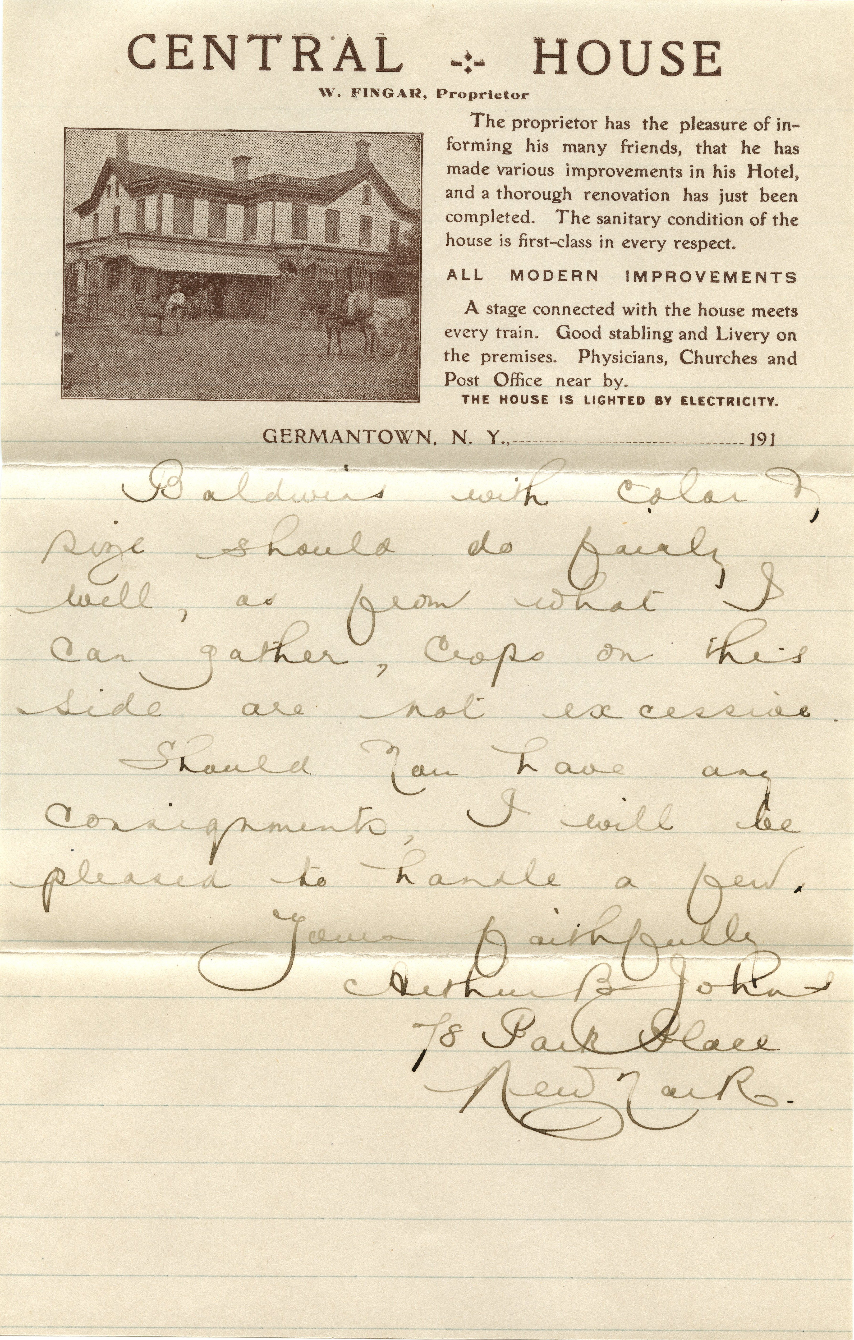 A Letter From John W.