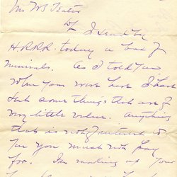 Letter from Clarence Lown* to W. S. Teator Page 1