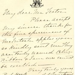 Letter from J. S. Armstrong to W. S. Teator