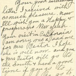 Letter from Emma C. McAtee to W. S. Teator Page 1