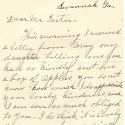 Letter from Emma C. McAtee to W. S. Teator (no date) Page 1