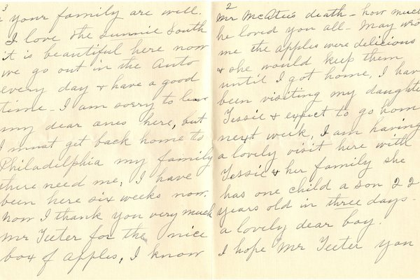 Letter from Emma C. McAtee to W. S. Teator (no date) Page 2
