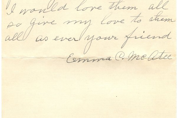 Letter from Emma C. McAtee to W. S. Teator (no date) Page 3