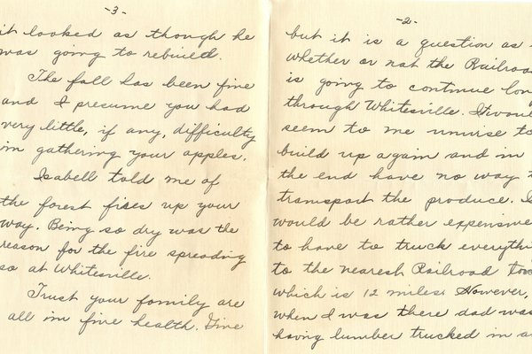 Letter Harold L. Teater to William S. Teator (1924-11-23) Page 2