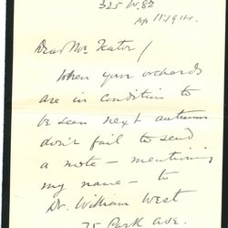 Letter John J. Chapman to William S. Teator Page 1