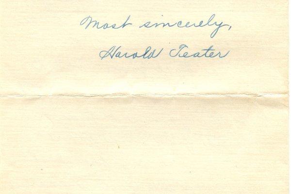 Letter Harold L. Teator to William S. Teator (1924-9-29) Page 3