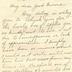 Letter Emma C. McAtee to William S. Teator (1923-10-5) Page 1