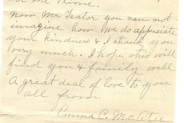 Letter Emma C. McAtee to William S. Teator (1923-10-5) Page 2