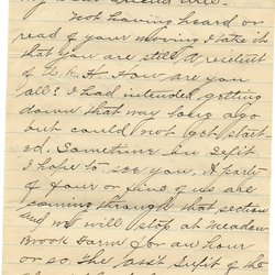 Letter A. J. Funk* to William S. Teator Page 1