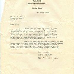 Letter H. S. Klingler to William S. Teator
