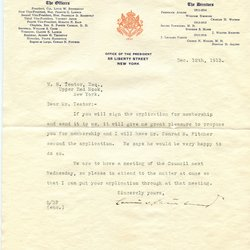 Letter Louis W. Stotesbury to William S. Teator (1913-12-12)