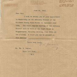 Letter E. K. Jordan to William S. Teator
