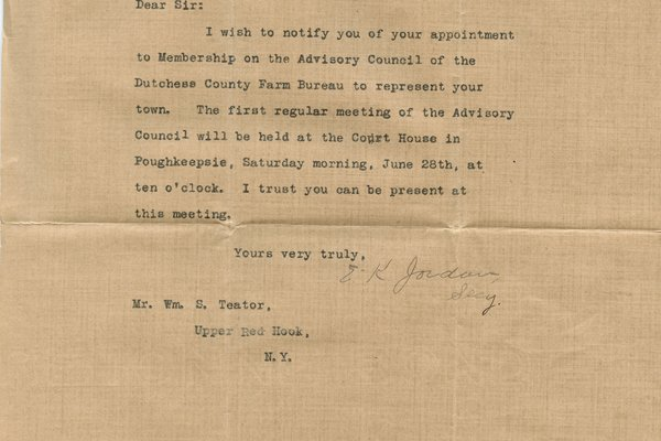 Letter E. K. Jordan to William S. Teator