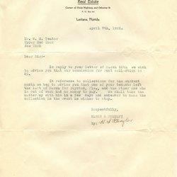 Letter H. S. Klingler to William S. Teator (1926-4-7)
