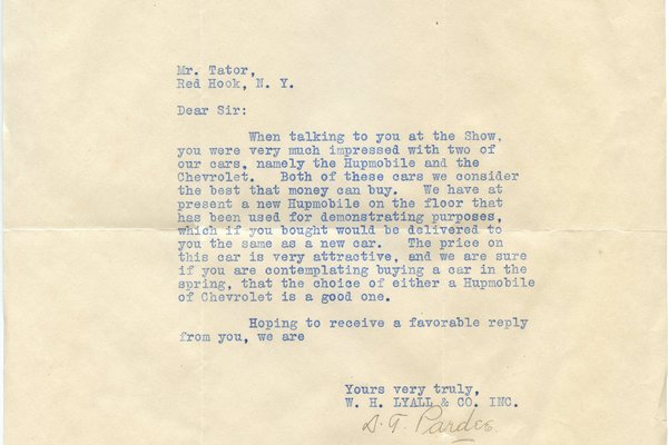 Letter S. T. Pardee to William S. Teator
