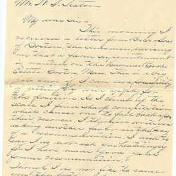 Letter Everett F. Wright to William S. Teator Page 1