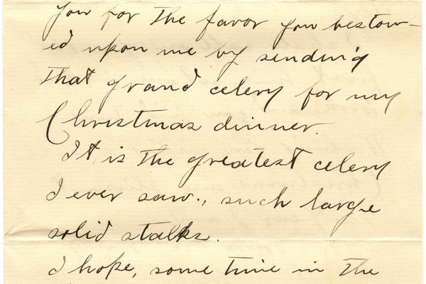 Letter H. Nune* to William S. Teator Page 1