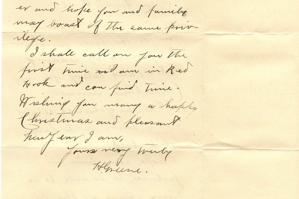 Letter H. Nune* to William S. Teator Page 2