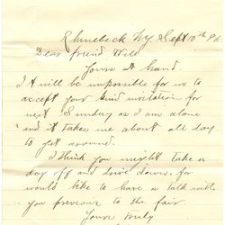 Letter H. Green to William S. Teator (1896-9-10) Page 1