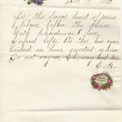 Letter E. G. to William S. Teator