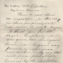 Letter H. E. Rogers to William S. Teator Page 1
