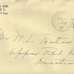 Letter Lown & Sons to William S. Teator (1887-4-6)