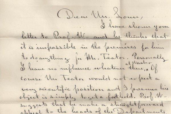 Letter Clarence Lown to L. P. Gratacap