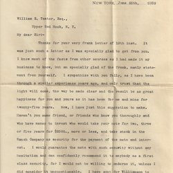 Letter Edwin D. Ingersoll to William S. Teator Page 1