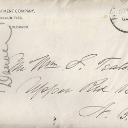 Letter Edwin D. Ingersoll to William S. Teator (1889-11-14)