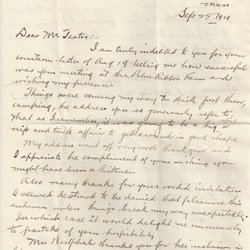 Letter T. Lee Roberts to William S. Teator Page 1
