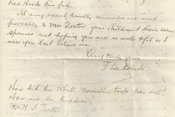 Letter T. Lee Roberts to William S. Teator Page 2