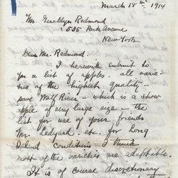 Letter William S. Teator to Geraldyn Redmond Page 1