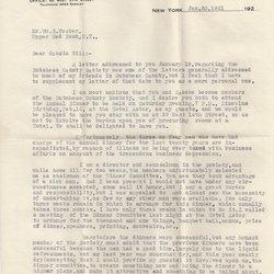 Letter W. M. Sittenham to William S. Teator Page 1