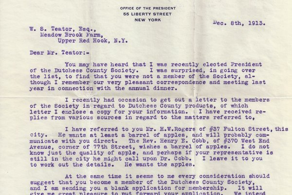 Letter Louis W. Stotesbury to William S. Teator
