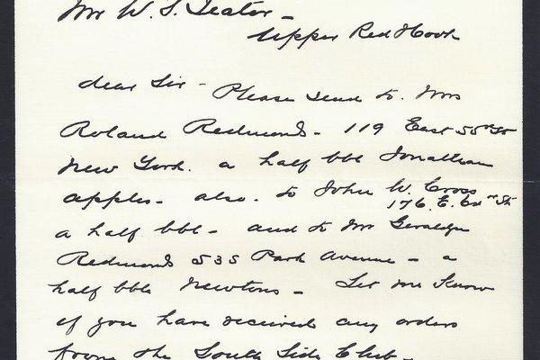 Letter Geraldyn Redmond to William S. Teator