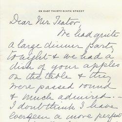 Letter Jean W. Delano to William S. Teator Page 1