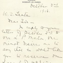 Letter Rebecca Kennedy to William S. Teator