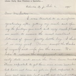 Letter Thomas A. Keeler to William S. Teator