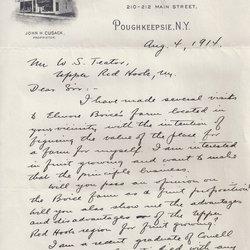 Letter Geo. W. Kuchler to William S. Teator