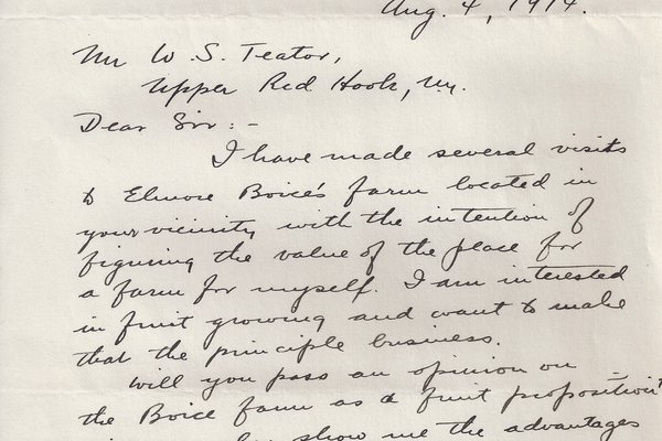 Letter Geo. W. Kuchler to William S. Teator