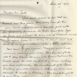 Letter T. Lee. Roberts to William S. Teator (1924-12-24)
