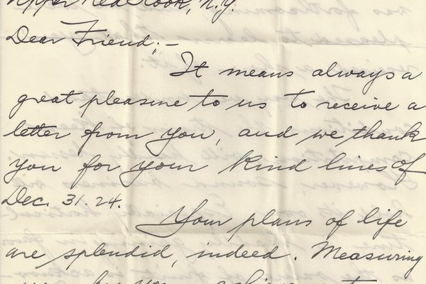Letter Ed Elsner to William S. Teator Page 1